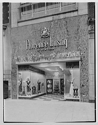 Photo: Florence Lustig,business at 54 E. 57th St.,New York City. - St New 57th York