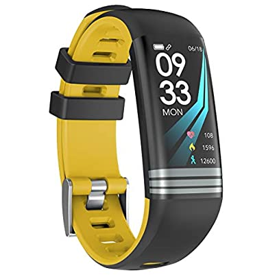 AZW Smart Watch Waterproof IP67 Fitness Wristband Heart Rate Sleep Monitor Step Counter Color Screen yellow Estimated Price £28.99 -