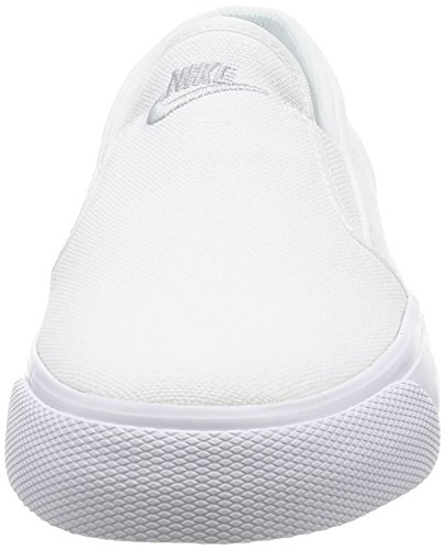 white Slip Wmns Femme Nike Blanco Toki Sport Mtlc Platinum De Chaussures Canvas zaAwSxwEq