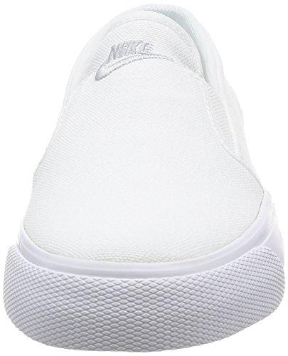Nike White Nike Shoe Casual Slip White Canvas Womens Toki Womens 66qxwB
