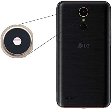 BisLinks® Para LG K10 2017 Rear Back Cámara Lens Vaso Cover Negro ...