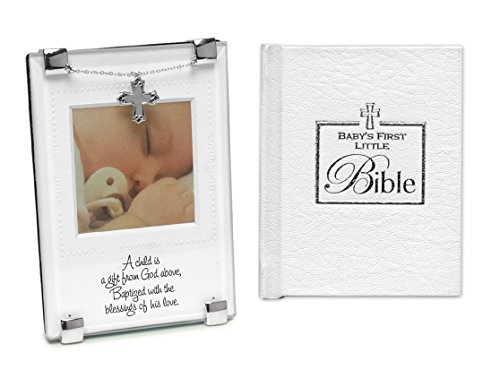 Baptism Gift for New Baby   Gift from God Baptism Photo Frame and Babys First Bible   Christening Gift for Boy Or Girl from Godmother Or (God Baby Boy Frame)
