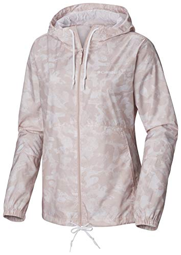 Columbia Women's Flash Forward Printed Windbreaker, Mineral Pink Camo, Medium