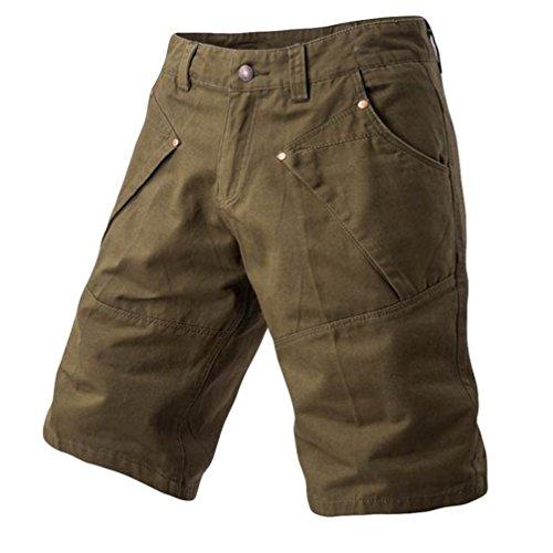 PASATO 2018 New Hot! Fashion Mens Casual Pocket Beach Work Casual Short Trouser, Classic Shorts Pants(Army Green, 38)