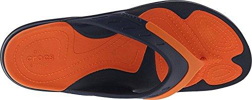 crocs Modi Sport Flip, Infradito Unisex – Adulto Navy/Tangerine