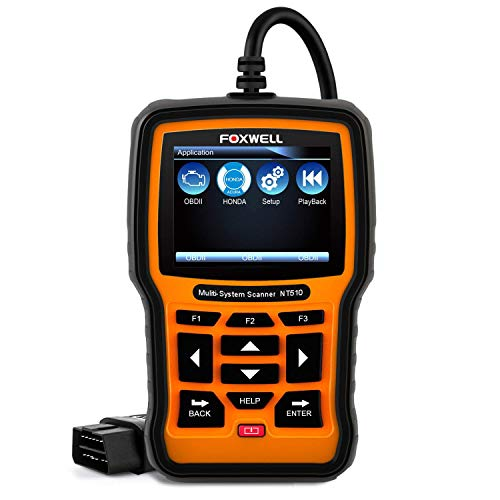 - FOXWELL NT510 OBD2 Scan Tool for Honda Acura All System Diagnostics ABS SRS Transmission SAS TPMS DPF Battery Reset Oil Service Light Reset