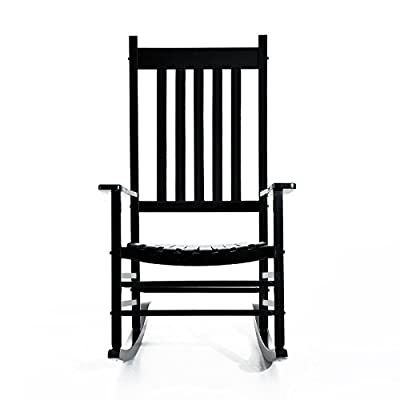 Outsunny Porch Rocking Chair - Outdoor Patio Wooden Rocking Chair
