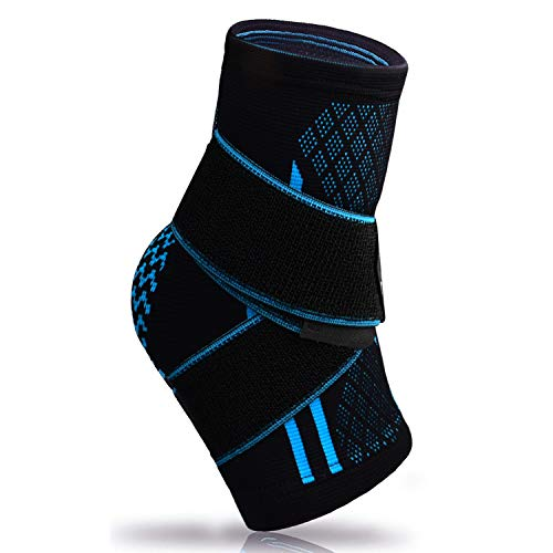 Plantar Fasciitis Sock with Arch Support, Eases Swelling, Achilles Tendon & Ankle Brace Sleeve with Compression Effective Joint Pain Foot Pain Relief from Heel Spurs -Single (Achimed Achilles Tendon Support)