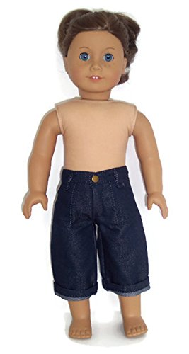 - Doll Clothes Denim Capris with Zipper and Front Pockets Fit American Girl Doll and Other 18 Inch Dolls