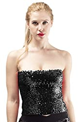Women's Sequins Stretch Tube Top