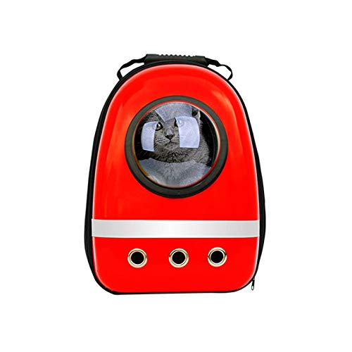 Krassu Pet Dog Carrier Backpack Mesh Camouflage Outdoor Travel Products Breathable Shoulder Handle Bags for Small Dog Cats [Red M]