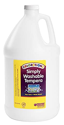 Colorations Simply Washable Tempera Paint, White - 1 Gallon (Item # GWSTWH) (White Paint Tempera)