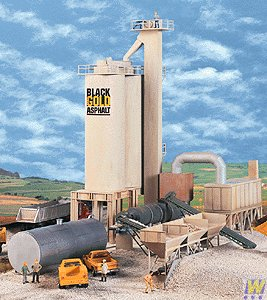 (Walthers Cornerstone Series Kit HO Scale Black Gold Asphalt - Hot Mix Plant)