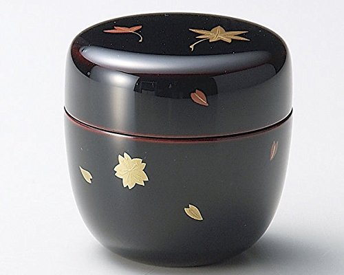 Echizen Urushi Lacquer Japanese Natsume Tea Ceremony Matcha Container Tea Caddy Shujyu Sakura Momiji