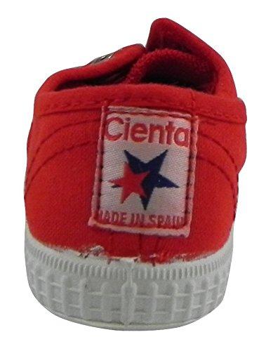 CIENTA Sneakers Niños Textil (23 EU, Rojo)