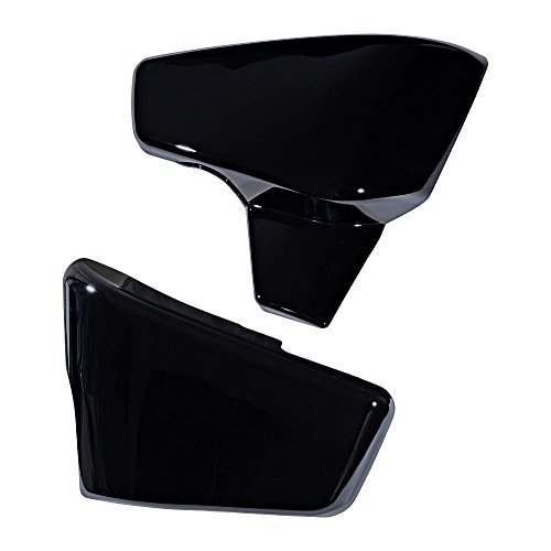 Set Battery Left & Right Cover For Honda Shadow VLX 600 1999-2008 VT 600 C CD Deluxe 1999-2007 (Glossy Black) by Anzio (Image #4)
