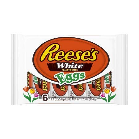 (Reese's Easter White Chocolate Eggs, 6ct)