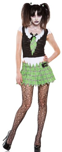 [Lip Service Sexy Zombie School Girl Uniform Adult Halloween Costume Small] (Zombie School Girl Adult Womens Costumes)