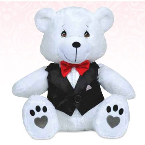 113500 - PWP Teddy Bear In Vest And Bow Tie Plush - Precious Moments