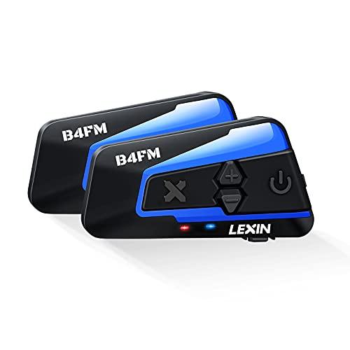 LEXIN B4FM Motorrad Bluetooth Headset, Helm Intercom, Kommunikationssystem für bis zu 8 Motorräder mit Einer Reichweite…