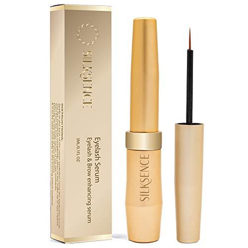 SILKSENCE Eyelash Growth Serum, Eyelash & Eyebrow Enhancer, Natural Ingredients Lash Boost Serum to Grow Longer Fuller…