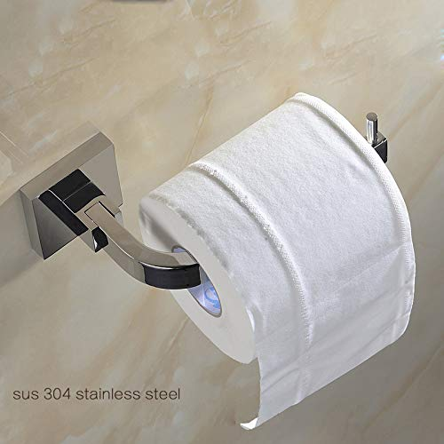 WEN-UD Bathroom Accessories Products Solid Brass Chrome Toilet Paper Holder,Roll Holder,Tissue Holder Without Cover