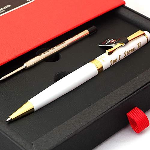 Free Engraving - Sotania Swiss Expert Ballpoint Pen, Medium Point, Roller pens, Groomsmen Gift, Free Custom Engraved Gifts for Men, Women
