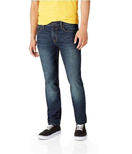 Aeropostale Mens Rivington Skinny Fit Jeans, Blue, 27W x 28L