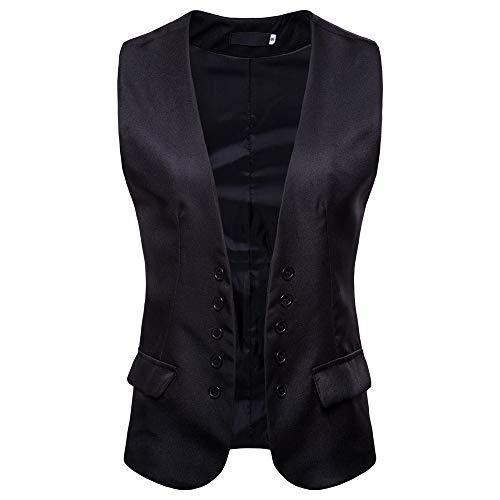 Costume De Sans Noir3 Veste Gilet Magiyard Unie Couleur Manche wxBfF5z