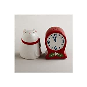 TAG Mouse and Clock Salt & Pepper Shaker Set by TAG