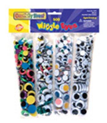 5 Pack CHENILLE KRAFT COMPANY WIGGLE EYES 500 ASST. by Chenille Kraft