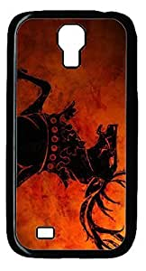 Abstract Horse DIY Hard Shell Black Best Designed Samsung Galaxy S4 I9500 Case