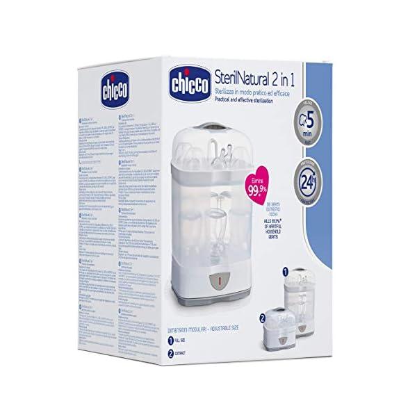 Chicco SterilNatural Sterilizzatore Biberon 2in1, Sterilizzatore Modulare a Vapore Naturale, con 2 Configurazioni… 3