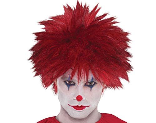 Amscan Adults Evil Clown Wig, One Size,