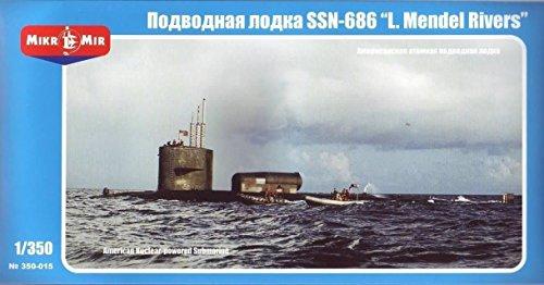 U S  Nuclear Powered Submarine Ssn 686  Mendel Rivers  1 350 Mikro Mir 350 015