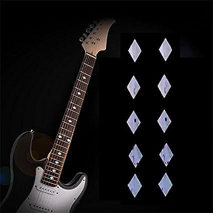 musicone diapasón marcadores DIY incrustaciones de símbolo de Batman en guitarra cuello – 10 pcs forma