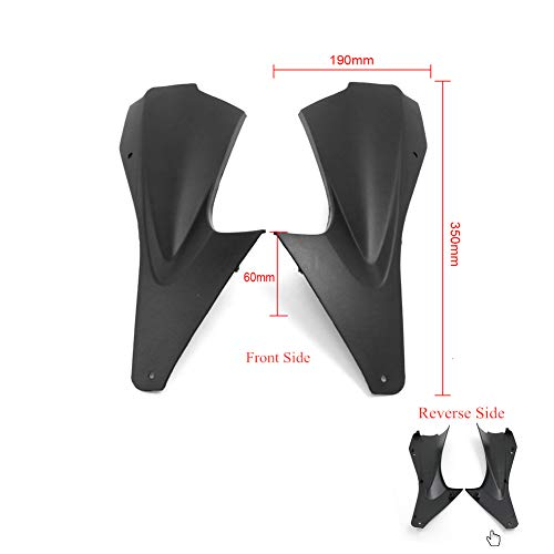 Cosmoska For Yamaha YZF600 R6 2pcs Motorcycle Fairing Panel Infill Air Duct Tube Cover Fairing Panel Air Breather Box Case YZF600 R6 2006 2007,Black