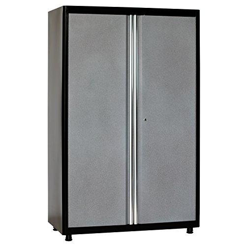 American Heritage AA3F462472-MG09 Welded Steel Floor Cabinet in Black/Multi-Granite, 72