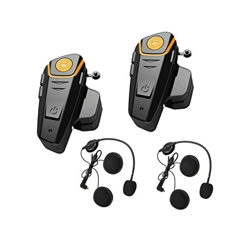 System Headset Bluetooth Usb (BT-S2 Dual Helmet Communication Systems, Motobike Bluetooth Headset and Intercom for Motocycle Riders (FM Radio/GPS/Range 1000M/2-3 Riders Pairin)