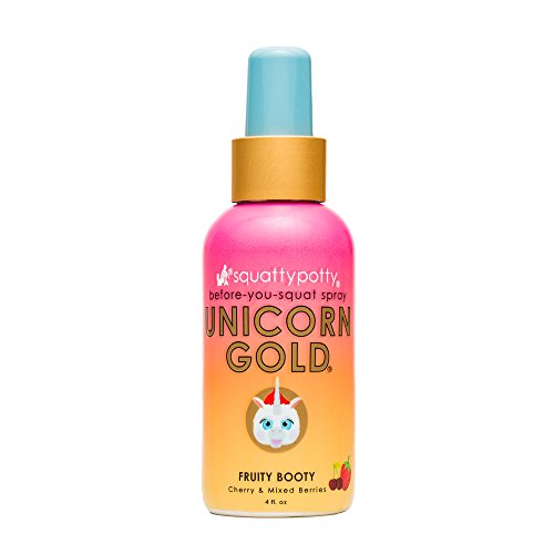 4 FL OZ. Squatty Potty Unicorn Gold Toilet Spray
