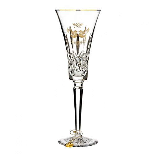 - 12 Days Lismore Two Turtle Doves Champagne Flute 2015 Color: Gold