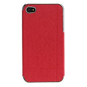 Solid Color Silk Print PC Hard Case with Interior Matte Protection for iPhone 4/4S (Assorted Colors) , Blue
