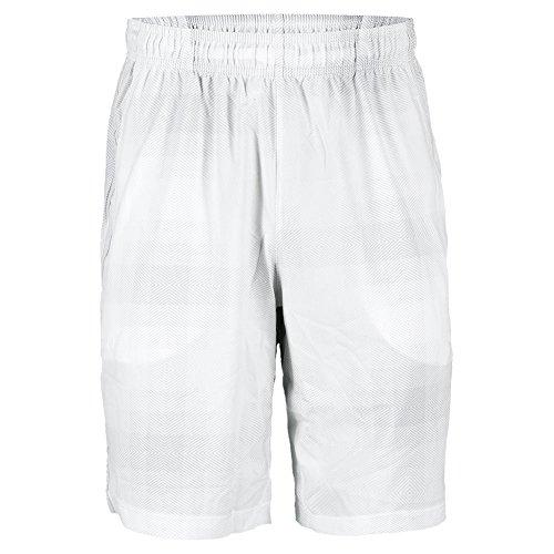 Men`s Blur Plaid Stretch Woven 10 Inch Tennis Short