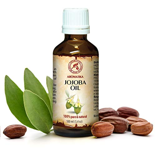 Jojoba Oil 100ml - Simmondsia Chinensis Seed Oil - Arhentina - 100% Pure & Natural - Cold Pressed - Best Benefits for Skin - Hair - Face - Body - Great for Beauty - Massage