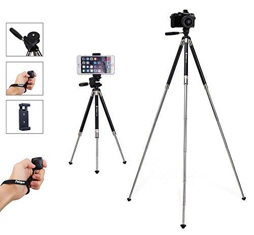 : iPhone Tripod, Smartphone Tripod, Fotopro 39.5 Inch Aluminum Camera Tripod + Bluetooth Remote Control + Smartphone Clip Mount + Tripod Bag