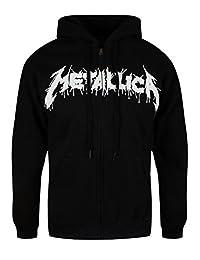 Metallica Men's One Zip Hoodie Black