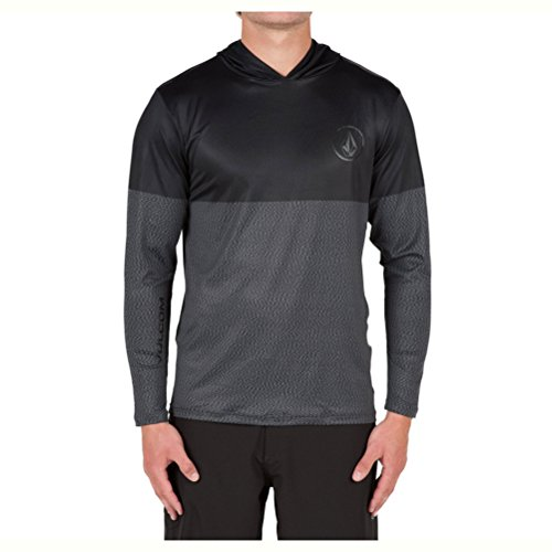 볼컴 Volcom Distortion Block Mens 래쉬가드 Rash Guard - Large/Stealth