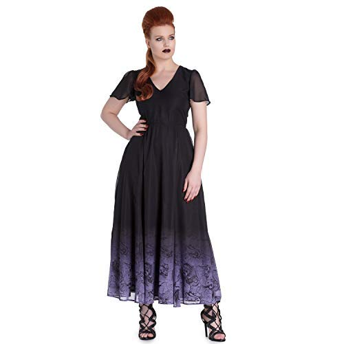 Bunny Gothique Mythique Doctor Maxi Longue Evadine Hell Robe Violet Spin Sirène HYDIW9eE2