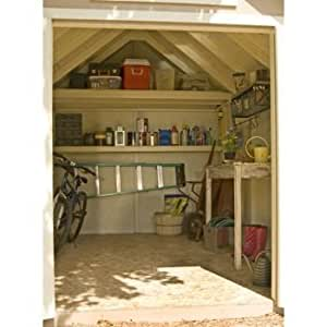 Amazon Com Everton 8 X 12 Wood Shed Solid 2 Quot X 4 Quot Wood