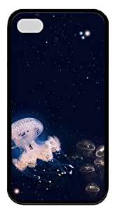 make Case For HTC One M7 Cover Jellyfish 2 PC Black Case For HTC One M7 Cover